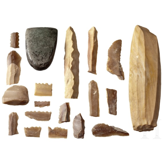 A group of Neolithic flint tools, Central and Northern Europe, 5th - 3rd millenium B.C.