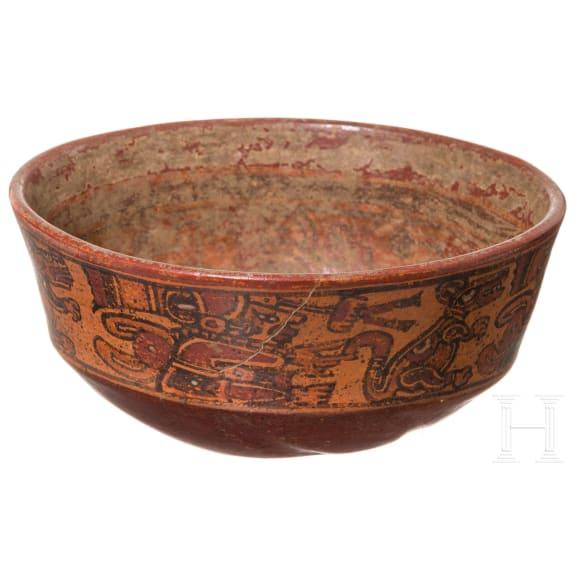 A Maya bowl, Honduras, late classical period, 900 - 1200 A.D.