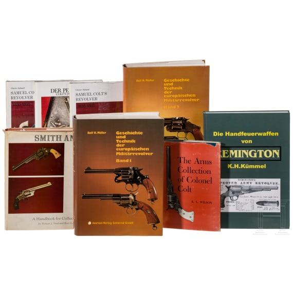 Eight books on revolvers