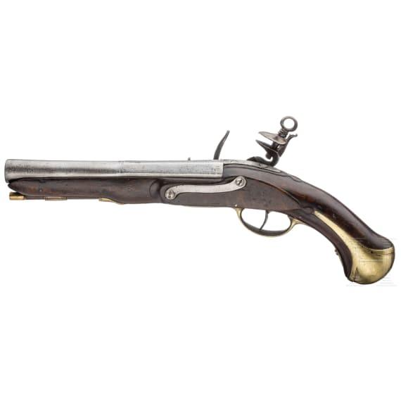 Marine-Steinschlosspistole, aus der Regierungszeit von König Carlos IV