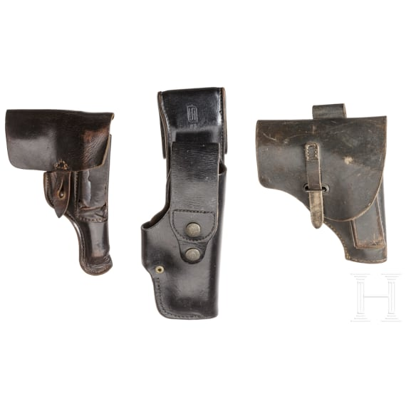 Three holsters for pistols - Walther & Beretta
