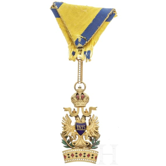 An Imperial Austrian Order of the Iron Crown, 3rd Class (Knight's Cross), with war decoration