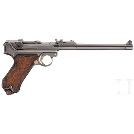 An Artillery Luger, DWM 1918, with shoulder stock and holster, in case