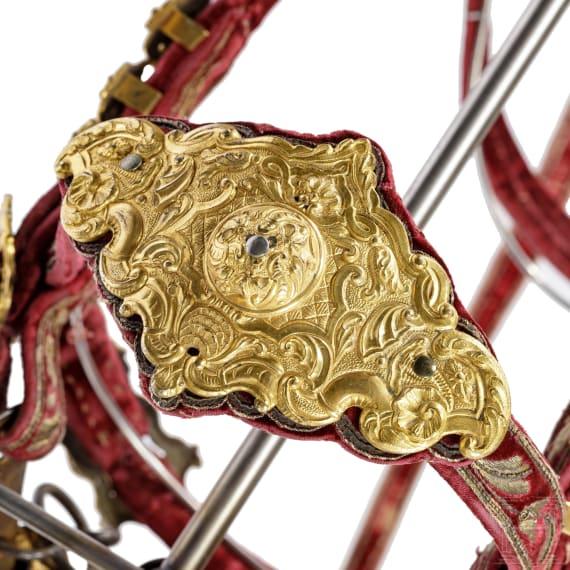 """A magnificent princely bridle from the arsenal of Frederick Augustus I of Saxony, called """"Augustus the Strong"""", circa 1700"""