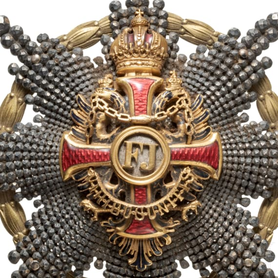 Order of Franz Joseph – a breast star with war decoration