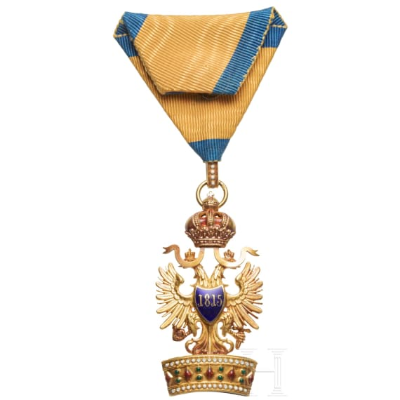 An Imperial Austrian Order of the Iron Crown, 3rd class (Knight's Cross)