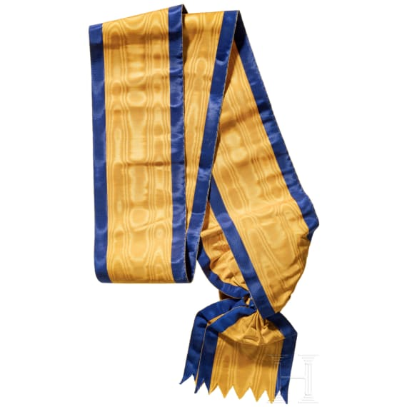 A sash for knights 1st class of the Order of the Iron Crown
