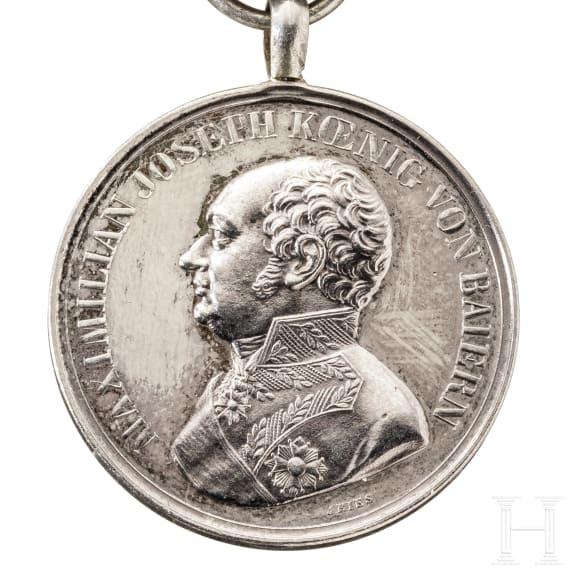 """Silberne bayerische Militär-Verdienstmedaille (""""Tapferkeitsmedaille"""") aus dem Weltkrieg 1914/18"""