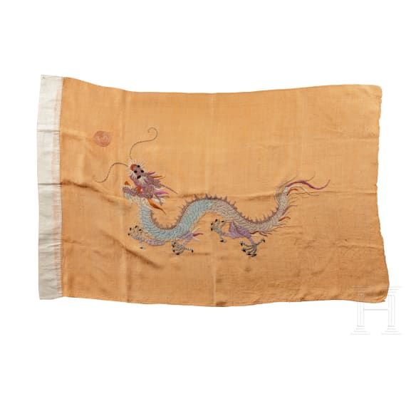 Yellow Dragon Flag, Nationalfahne der Qing-Dynastie, zwischen 1888 und 1912