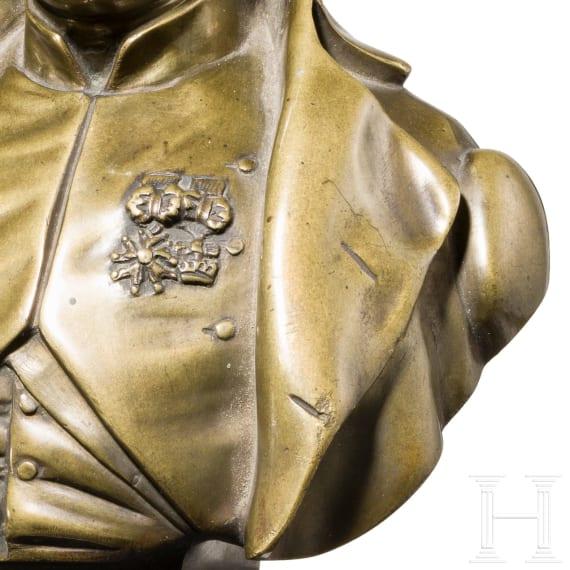 A Napoleon I bronze bust