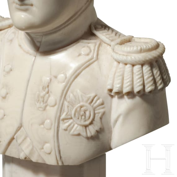 Napoleon Bonaparte - Elfenbeinbüste, um 1860
