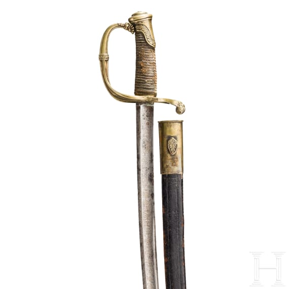 A sabre for officers of the Garde Royale d'infanterie