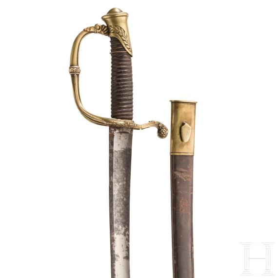 Säbel M 1821 für Offiziere der Infanterie