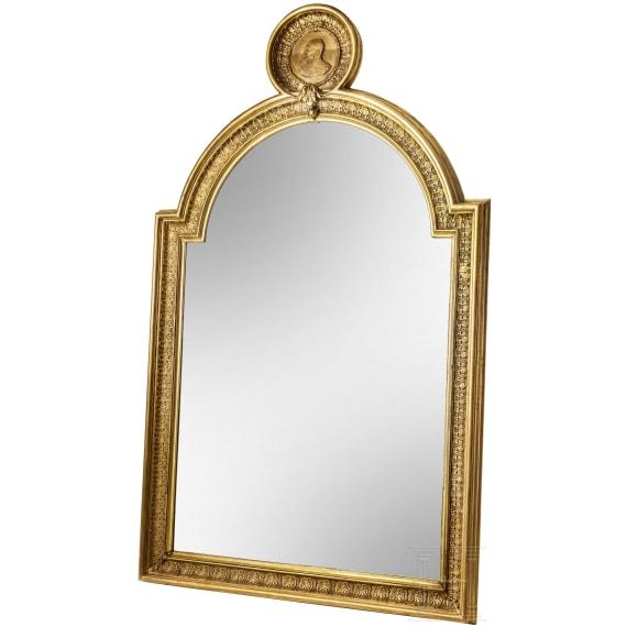 Emperor Franz Josef I of Austria – a splendid wall mirror with the Emperor's portrait