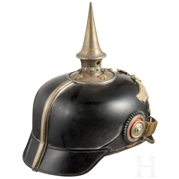 A helmet for officers in the 1st Baden Leib Grenadier Regiment No. 109, circa 1914