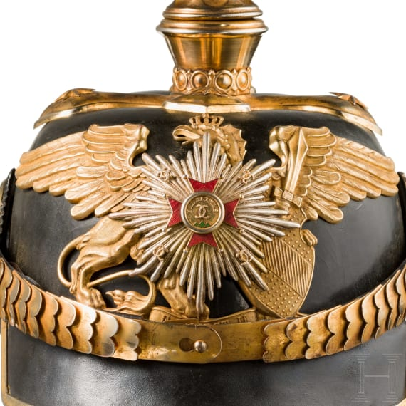 A helmet M1886 for a Baden officer of general's rank, worn from 1897 on