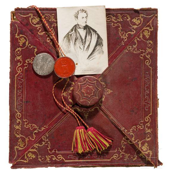 Privy Councillor Friedrich Theodor Schaaff – Honorary Citizenship Certificate of the City of Rastatt, 1844