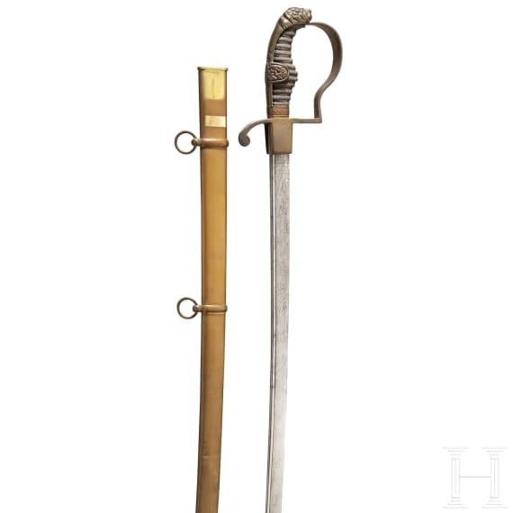 Säbel für Offiziere der Artillerie des Hamburger Bürgermilitärs, um 1840