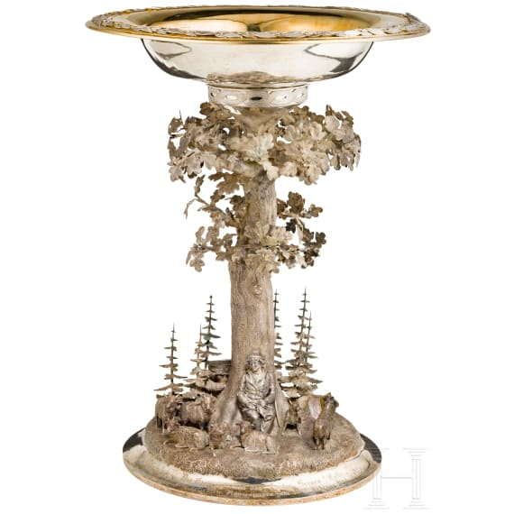 A large table centrepiece for King George V of Hanover, dated 1868