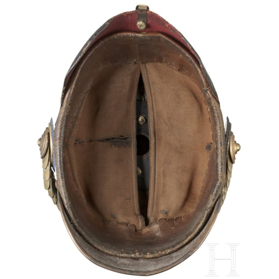 Helm für Offiziere des Holsteinischen Feldartillerie-Regiments 24, 3. Batterie, um 1900