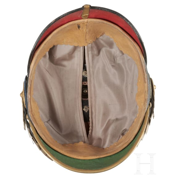 A helmet for officers in the Grand Ducal Mecklenburg Grenadier Regiment No. 89, 2nd Battalion, circa 1900