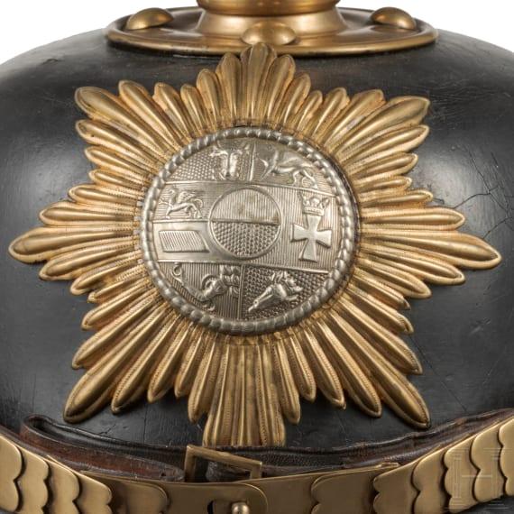 A helmet for an NCO of the Grenadier Regiment No. 89, II. Battalion (Mecklenburg-Strelitz), circa 1910