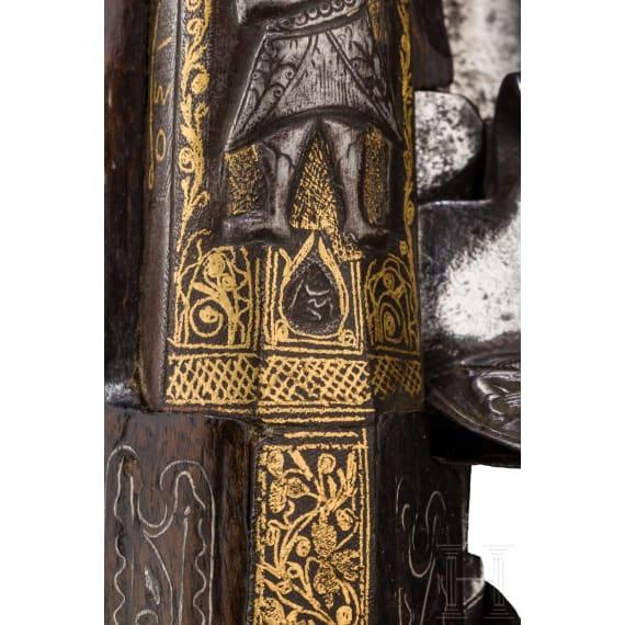 Ein Paar eisengeschnittene Luxus-Orientpistolen, osmanisch, um 1800