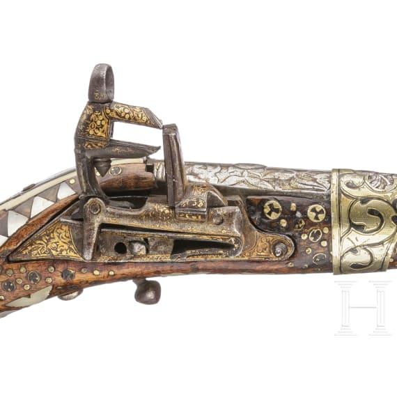 A Persian miquelet tromblone pistol, 1st half of the 19th century