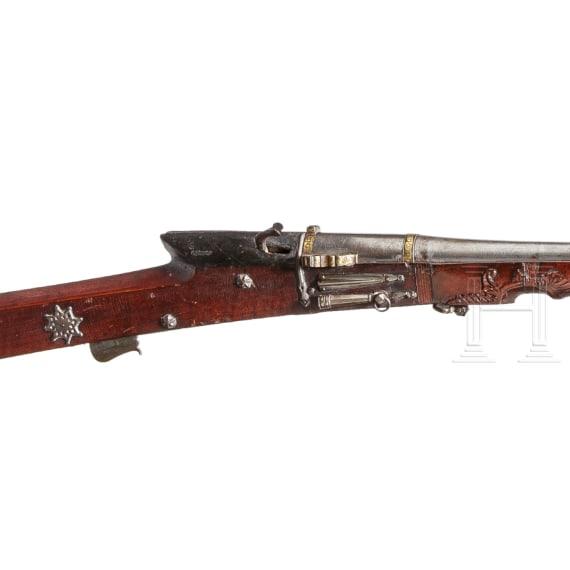 An Indian matchlock rifle, 18th century