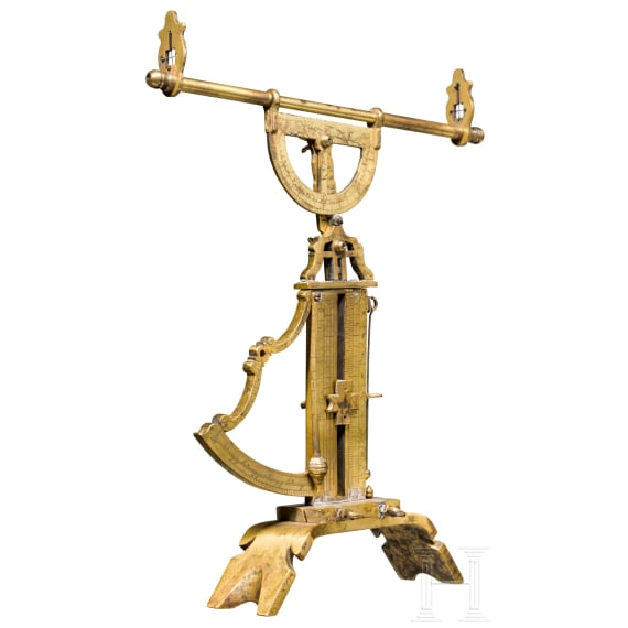 """A gun laying device for artillery, signed and dated """"R.M. Paris 1791"""""""