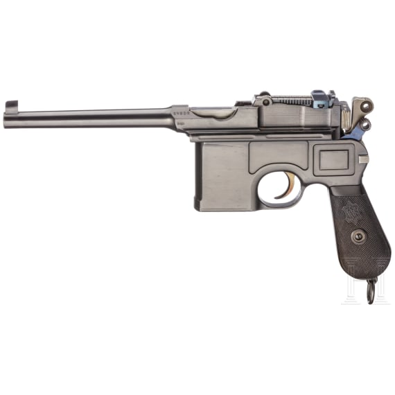 Mauser C 96, Siamese Contract Small Ring, mit Kasten