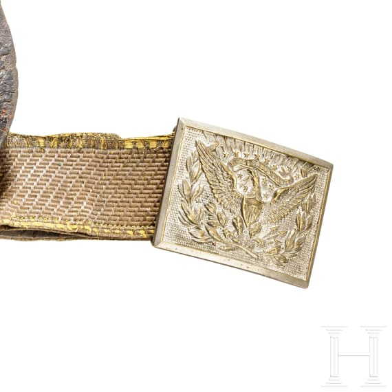 An US American officer's waist belt with cartridge pouch, 2nd half of the 19th century