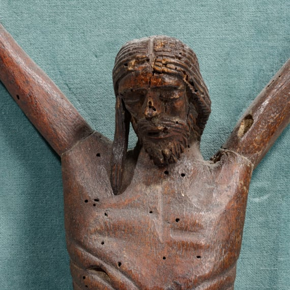 A South French late Gothic crucifix, 14th/15th century