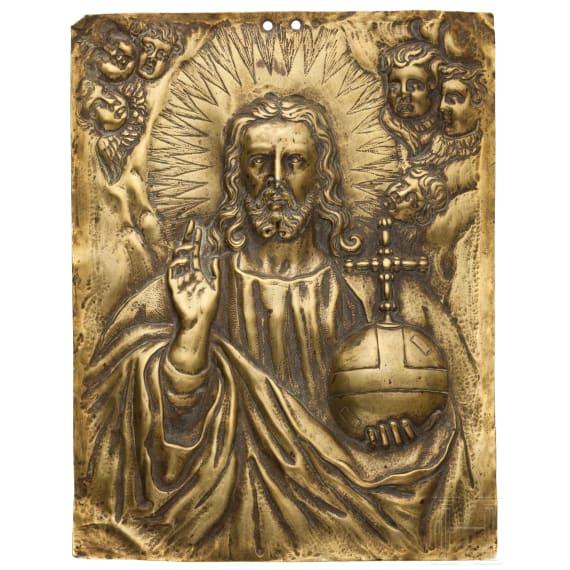 "A relief plate ""Salvator Mundi"", Antwerp, circa 1600"