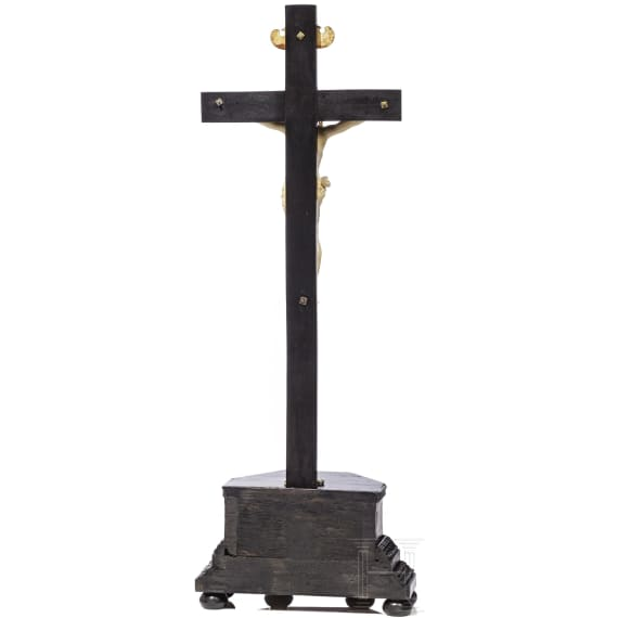 A German crucifix, ivory, 17th century