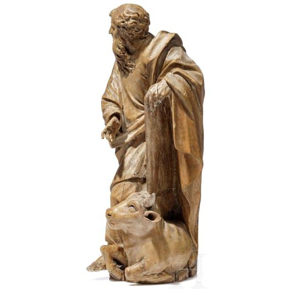 A statuette of the evangelist Luke, circle of Thomas Schwanthaler, ca. 1700