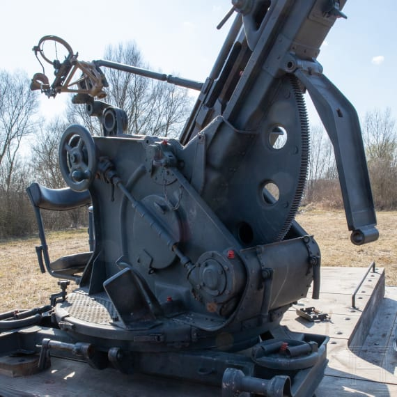 A Mercedes-Benz truck Mod. L3000 S, with deactivated 2 cm anti-aircraft gun 30, Germany, year of manufacture 1939
