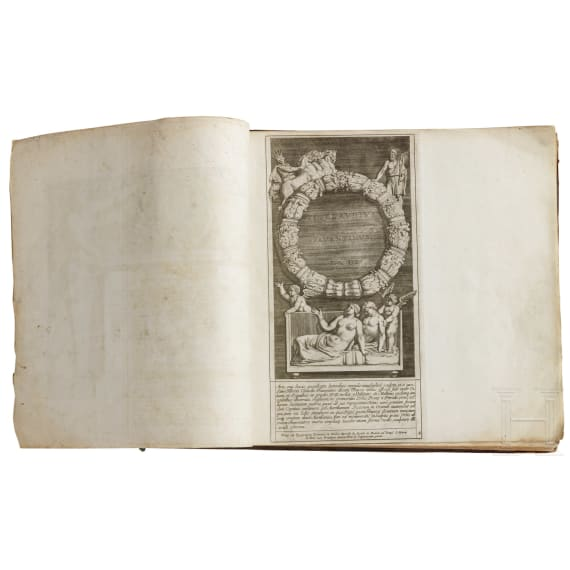 """Admiranda romanarum antiquitatum"", Tafelwerk nach Bartoli und Bellori, Italien, 1693"