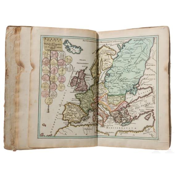"""Descriptio Orbis Antiqui in XLIV. Tabulis exhibita"" a Io. Davide Koelero""; kolorierter Atlas, Christoph Weigel, Nürnberg, um 1720"