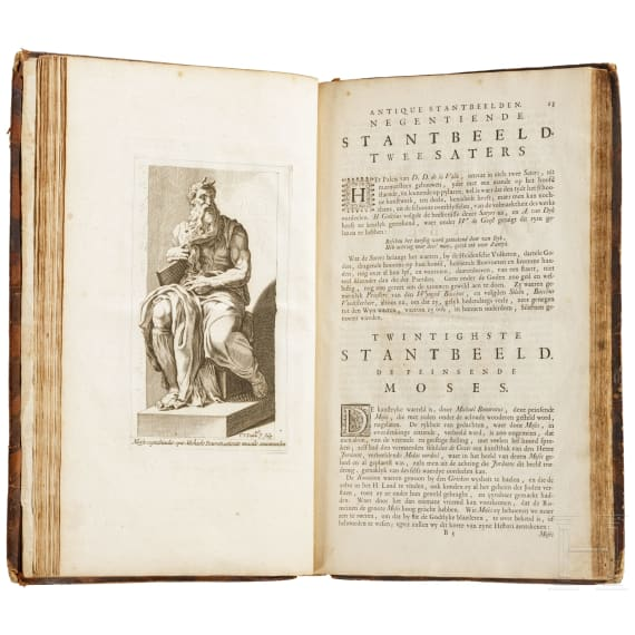 """""""Art cabinet"""" (transl.), containing 100 plates of monuments of ancient Rome, Gravenhage, 1737"""