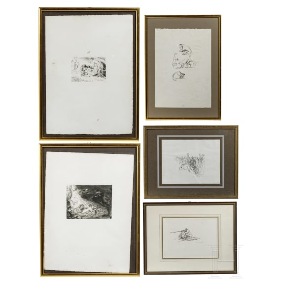 Five graphics by Max Sleevogt (1868 - 1932)