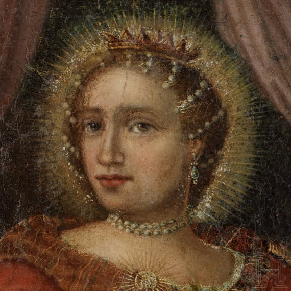 A southern German painting of St. Barabara, 1st half of the 18th century