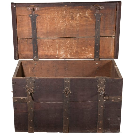 A South German monastery chest made of oak, early-17th century