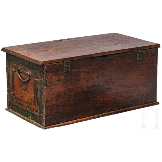 A small French baroque chest, 18th century