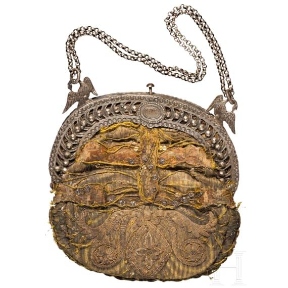 Silbermontierte Tasche, süddeutsch, um 1820