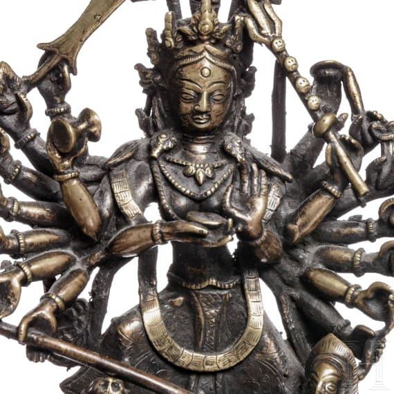 Two Nepalese bronze figures, 19th/20th century