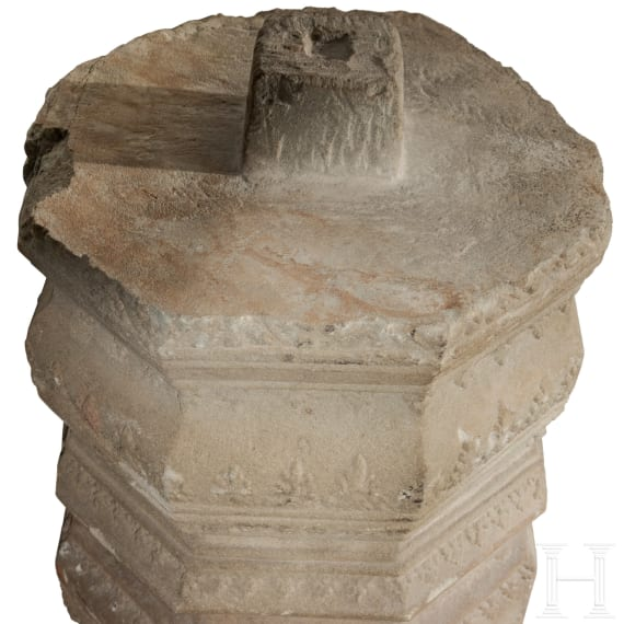 A Cambodian Khmer palace column, 11th century