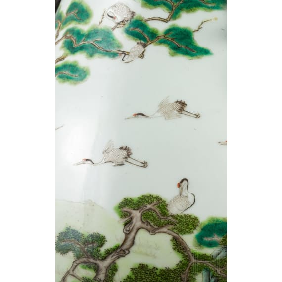 """Große """"100-Kraniche-Vase"""", China, frühe Republikzeit"""