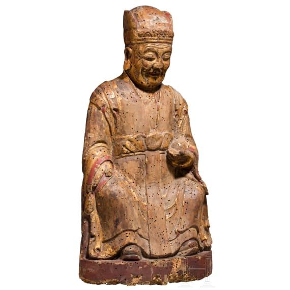 Figur eines weisen Mannes, China, 18./19. Jhdt.