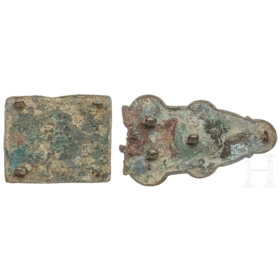 A Merovingian belt fitting, 6th century